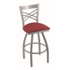 "820 Catalina 30"" Bar Stool with Anodized Nickel Finish, Allante Wine Seat, and 360 swivel"