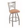 "820 Catalina 30"" Bar Stool with Anodized Nickel Finish, Axis Summer Seat, and 360 swivel"