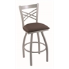 "820 Catalina 30"" Bar Stool with Anodized Nickel Finish, Axis Truffle Seat, and 360 swivel"