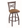 "820 Catalina 36"" Bar Stool with Bronze Finish, Allante Beechwood Seat, and 360 swivel"