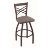 "820 Catalina 36"" Bar Stool with Bronze Finish, Allante Medium Grey Seat, and 360 swivel"
