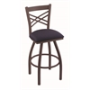 "820 Catalina 36"" Bar Stool with Bronze Finish, Axis Denim Seat, and 360 swivel"