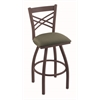 "820 Catalina 36"" Bar Stool with Bronze Finish, Axis Grove Seat, and 360 swivel"