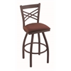 "820 Catalina 36"" Bar Stool with Bronze Finish, Axis Paprika Seat, and 360 swivel"