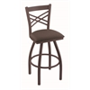 "820 Catalina 36"" Bar Stool with Bronze Finish, Axis Truffle Seat, and 360 swivel"