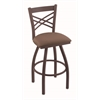 "820 Catalina 30"" Bar Stool with Bronze Finish, Axis Willow Seat, and 360 swivel"