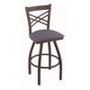 "820 Catalina 36"" Bar Stool with Bronze Finish, Rein Bay Seat, and 360 swivel"