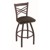 "820 Catalina 36"" Bar Stool with Bronze Finish, Rein Coffee Seat, and 360 swivel"