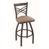 "820 Catalina 36"" Bar Stool with Bronze Finish, Rein Thatch Seat, and 360 swivel"