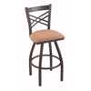 "820 Catalina 36"" Bar Stool with Pewter Finish, Axis Summer Seat, and 360 swivel"