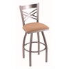 "820 Catalina 30"" Bar Stool with Stainless Finish, Axis Summer Seat, and 360 swivel"