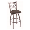 "820 Catalina 30"" Bar Stool with Stainless Finish, Axis Truffle Seat, and 360 swivel"