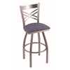 "820 Catalina 30"" Bar Stool with Stainless Finish, Rein Bay Seat, and 360 swivel"
