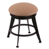 "Holland Bar Stool Co. 900 Laser 18"" Vanity Stool with Black Wrinkle Finish, Allante Beechwood Seat, and 360 Swivel"