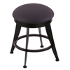 "Holland Bar Stool Co. 900 Laser 18"" Vanity Stool with Black Wrinkle Finish, Allante Dark Blue Seat, and 360 Swivel"