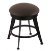 "Holland Bar Stool Co. 900 Laser 18"" Vanity Stool with Black Wrinkle Finish, Allante Espresso Seat, and 360 Swivel"