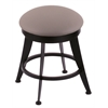 "Holland Bar Stool Co. 900 Laser 18"" Vanity Stool with Black Wrinkle Finish, Allante Medium Grey Seat, and 360 Swivel"