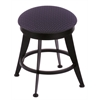 "900 Laser 18"" Vanity Stool with Black Wrinkle Finish, Axis Denim Seat, and 360 Swivel"