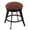 "Holland Bar Stool Co. 900 Laser 18"" Vanity Stool with Black Wrinkle Finish, Axis Paprika Seat, and 360 Swivel"