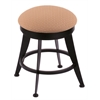 "Holland Bar Stool Co. 900 Laser 18"" Vanity Stool with Black Wrinkle Finish, Axis Summer Seat, and 360 Swivel"