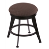 "Holland Bar Stool Co. 900 Laser 18"" Vanity Stool with Black Wrinkle Finish, Axis Truffle Seat, and 360 Swivel"