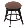 "Holland Bar Stool Co. 900 Laser 18"" Vanity Stool with Black Wrinkle Finish, Axis Willow Seat, and 360 Swivel"
