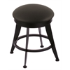 "Holland Bar Stool Co. 900 Laser 18"" Vanity Stool with Black Wrinkle Finish, Black Vinyl Seat, and 360 Swivel"