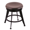 "Holland Bar Stool Co. 900 Laser 18"" Vanity Stool with Black Wrinkle Finish, Dark Cherry Maple Seat, and 360 Swivel"