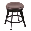 "Holland Bar Stool Co. 900 Laser 18"" Vanity Stool with Black Wrinkle Finish, Dark Cherry Oak Seat, and 360 Swivel"