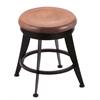 "900 Laser 18"" Vanity Stool with Black Wrinkle Finish, Medium Maple Seat, and 360 Swivel"