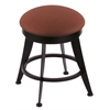 "900 Laser 18"" Vanity Stool with Black Wrinkle Finish, Rein Adobe Seat, and 360 Swivel"