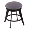 "Holland Bar Stool Co. 900 Laser 18"" Vanity Stool with Black Wrinkle Finish, Rein Bay Seat, and 360 Swivel"