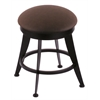 "Holland Bar Stool Co. 900 Laser 18"" Vanity Stool with Black Wrinkle Finish, Rein Coffee Seat, and 360 Swivel"