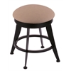 "Holland Bar Stool Co. 900 Laser 18"" Vanity Stool with Black Wrinkle Finish, Rein Thatch Seat, and 360 Swivel"