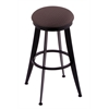 "Holland Bar Stool Co. 900 Laser 25"" Counter Stool with Black Wrinkle Finish, Axis Truffle Seat, and 360 swivel"