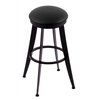 "Holland Bar Stool Co. 900 Laser 30"" Bar Stool with Black Wrinkle Finish, Black Vinyl Seat, and 360 swivel"