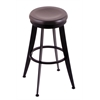 "900 Laser 30"" Bar Stool with Black Wrinkle Finish, Dark Cherry Maple Seat, and 360 swivel"