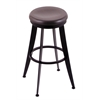 "Holland Bar Stool Co. 900 Laser 25"" Counter Stool with Black Wrinkle Finish, Dark Cherry Oak Seat, and 360 swivel"