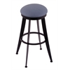 "Holland Bar Stool Co. 900 Laser 30"" Bar Stool with Black Wrinkle Finish, Rein Bay Seat, and 360 swivel"