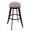 "Holland Bar Stool Co. 900 Laser 30"" Bar Stool with Black Wrinkle Finish, Rein Thatch Seat, and 360 swivel"