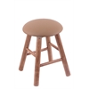 Maple Round Cushion Vanity Stool with Smooth Legs, Medium Finish, Allante Beechwood Seat, and 360 Swivel