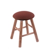 Holland Bar Stool Co. Maple Round Cushion Vanity Stool with Smooth Legs, Medium Finish, Axis Paprika Seat, and 360 Swivel