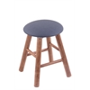 Holland Bar Stool Co. Maple Round Cushion Vanity Stool with Smooth Legs, Medium Finish, Rein Bay Seat, and 360 Swivel