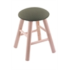 Holland Bar Stool Co. Maple Round Cushion Vanity Stool with Smooth Legs, Natural Finish, Axis Grove Seat, and 360 Swivel