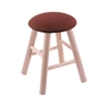 Holland Bar Stool Co. Maple Round Cushion Vanity Stool with Smooth Legs, Natural Finish, Axis Paprika Seat, and 360 Swivel