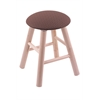 Maple Round Cushion Vanity Stool with Smooth Legs, Natural Finish, Axis Willow Seat, and 360 Swivel