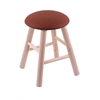 Maple Round Cushion Vanity Stool with Smooth Legs, Natural Finish, Rein Adobe Seat, and 360 Swivel