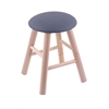 Maple Round Cushion Vanity Stool with Smooth Legs, Natural Finish, Rein Bay Seat, and 360 Swivel