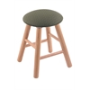 Oak Round Cushion Vanity Stool with Smooth Legs, Natural Finish, Axis Grove Seat, and 360 Swivel