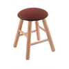 Holland Bar Stool Co. Oak Round Cushion Vanity Stool with Smooth Legs, Natural Finish, Axis Paprika Seat, and 360 Swivel